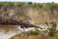 Krzyżować strona przeciwna africa Kenya Mara masai rzeka Zdjęcia Royalty Free