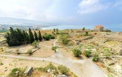 Krzyżowa kasztel, Byblos, Liban Zdjęcie Stock