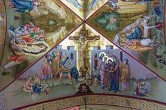 Krzyżowanie fresk na Tabor zdjęcie stock