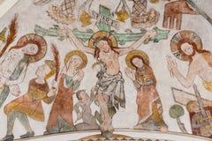 Krzyżowanie Jezus na wielkim piątku Fotografia Royalty Free