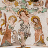 Krzyżowanie Jezus na wielkim piątku Obraz Royalty Free