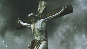 Krzyżowanie krzyż z jezus chrystus statuą zbiory