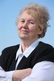 krzyżująca starszych osob ręk kobieta Zdjęcie Royalty Free