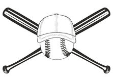 krzyżujący balowi nietoperze ilustracja wektor