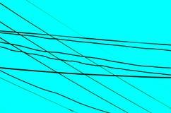 Krzyżujący druty nad aqua tłem Zdjęcie Royalty Free