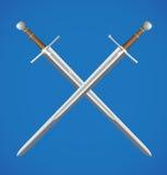 krzyżujący kordziki dwa Zdjęcie Royalty Free