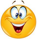 Krzyżujący oka emoticon Zdjęcie Royalty Free