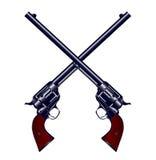 Krzyżujący pistolety Fotografia Royalty Free