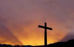 Krzyżuje jaskrawego nieba tło Obrazy Royalty Free