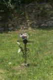 Krzyżuje który zaznacza pogrzeb obraz royalty free