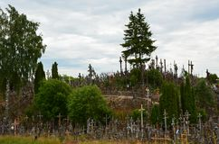 krzyżuje wzgórze Lithuania Chrystus, religia obraz royalty free