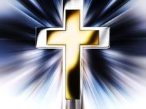 krzyżuje złotego ilustracja wektor