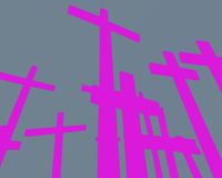 krzyże ilustracja wektor