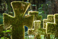 Krzyże przy starym cmentarzem Obraz Stock