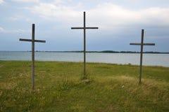 krzyże trzy Obrazy Royalty Free