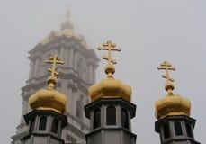 Krzyże w mgle Zdjęcie Royalty Free
