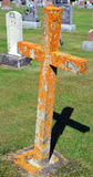 Krzyż i grób Fotografia Royalty Free