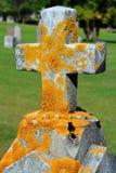 Krzyż i grób Zdjęcia Royalty Free