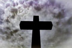 Krzyż i nieba Obraz Royalty Free