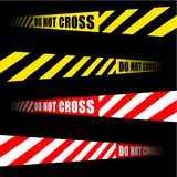 krzyż nie no nagrywa Obrazy Royalty Free