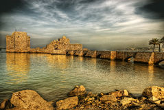 Krzyżowa Morza Kasztel, Sidon (Liban) Zdjęcia Royalty Free