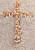 Krzyż papierosy Zdjęcie Stock