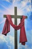 Krzyż przeciw niebu Obrazy Stock