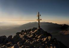 Krzyż przy szczytem Tatry Sistani Zdjęcie Royalty Free