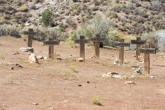 krzyżuje grób kilka nieznane Fotografia Stock