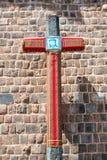 Krzyż w Cusco Obraz Stock
