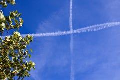 Krzyż w niebie Zdjęcie Stock