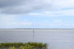 Krzyż w oceanie Fotografia Stock