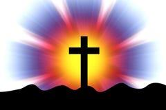 Krzyż w promienie Obraz Royalty Free