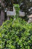 Krzyż w trawie Obraz Stock
