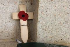 Krzyż wspominanie obraz stock