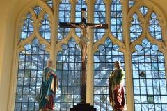 Krzyża inside kościół Zdjęcia Stock