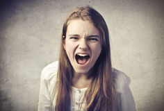 Krzycząca Dziewczyna Zdjęcia Royalty Free