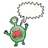 krzycząca potwór kreskówka Zdjęcia Stock