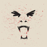 Krzycząca wampir twarz Obrazy Royalty Free