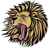 Krzyczący lwa wektor ilustracja wektor