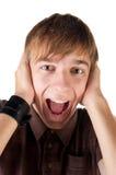 krzyczący mężczyzna potomstwa Zdjęcia Royalty Free