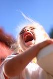 Krzycząca dziewczyna Obraz Stock