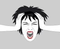 krzycząca kobieta Zdjęcia Stock