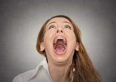 Krzycząca kobieta Obrazy Stock