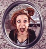 Krzycząca kobieta Zdjęcie Royalty Free