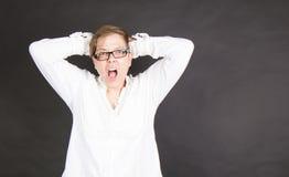 Krzycząca osoba Fotografia Royalty Free