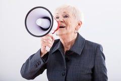 Krzyczeć przez megafonu Zdjęcie Stock