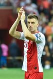 Krzysztof Piatek nach dem Match lizenzfreie stockbilder