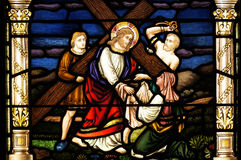 krzyżuje jego Jesus bierze jego Fotografia Stock