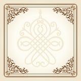 krzyw kwiecisty ramowy ornamentu rocznik Zdjęcia Stock